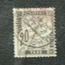 TIMBRES FRANCE : 1881/92 YVERT TIMBRE-TAXE N° 17 Oblitéré - 2ème CHOIX