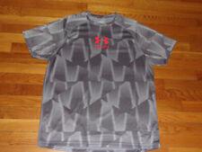Under Armour Heatgear Short Sleeve Dark/Light Gray Fitted Jersey Mens Xl Exc.