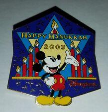 Disney Pin DLR Happy Hanukkah 2003 Mickey Le1500
