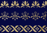 Border Stencil Lace Painting Wall Furniture Cardmaking Reusable Crafts Art BO21