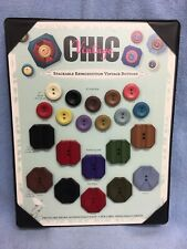 """New listing Jhb """" Vintage Chic Stackable Reproduction """" Salesman Sample Button Card Sew Thru"""