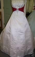 white/lipstick sz.14 NWT 2010 bridal gown dress BEAUTY