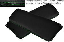 Vert coutures Fits Volvo Amazon 122 122S 120 2x pare-soleil cuir couvre uniquement