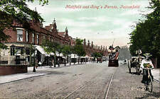 Fallowfield, Manchester. Mabfield & King's Parade # 47918 by Valentine's. Tram.