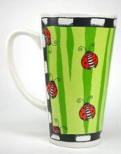 Alicia Tormey Oversized Stoneware Bug Me Coffee Tea Mug Cup Lady Bugs Cartoon