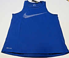 Nike Dry Dri Fit Mens M shirt tank top 800823 dark blue 455 Running NWT