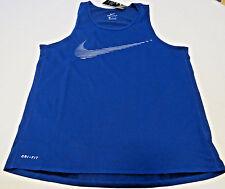 Nike Dry Dri Fit Mens XL shirt tank top 800823 dark blue 455 Running NWT