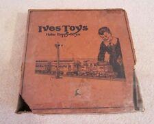 VINTAGE 1920s IVES #21 MECHANICAL TRAIN OUTFIT BOX FOR ELECTRIC TYPE LOCO SET!