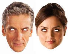 Peter Capaldi Le 12e Doctor Who and Clara Oswald CARTE Masques De Visage De Fête