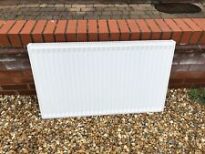 Single central heating radiator 1m wide