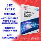 Bitdefender Internet Security 2021 5 PC 1 year, FULL EDITION +VPN
