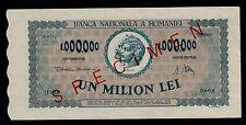 ROMANIA  SPECIMEN 1000000 LEI  1947  PICK #  60   AU-UNC BANKNOTE.