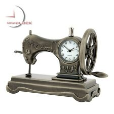 SEWING MACHINE Vintage Style Collectible Miniature Desktop Clock