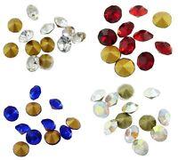 1440 Diamante Glass Chaton Beads 2mm Gem Point Back. 4 Colours. (BOX108)