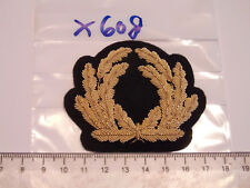 Marine Mützenabzeichen golden Handgestickt 1 Stück (x608)
