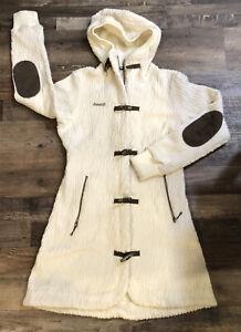 Bergans Of Norway 1850 Bergfrue Lady Coat Sz M Wool Blend Long Sweater