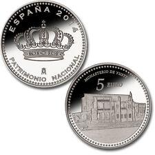 ESPAÑA: 5 euro plata 2014 Monasterio de Yuste - 4 reales PATRIMONIO NACIONAL