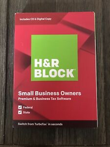 H&R Block Premium & Business Tax Software 2019 for Windows New