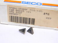 NEW SURPLUS 10PCS. SECO  TPG  222F  GRADE: 895  CARBIDE INSERTS