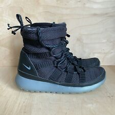 Nike Roshe One High Women's Size 7 Black Sneaker Boot Soft Faux Fur Lined Shoes