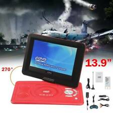 13.9 inch Portable DVD Player Kids Xmas Gift 270° Swivel Screen + Game Joystick