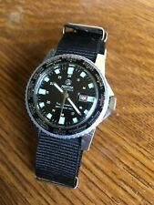 Mortima vintage watch SuperDatomatic World time diver skin gent's/homme 6 Atm,