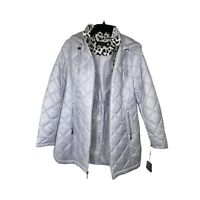 Laundry Women's  Quilted Zip Winter Ski Jacket Coat Parka Shelli Segal ,Size M