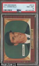 1955 Bowman #313 A.J. Donatelli Umpire PSA 8 NM-MT