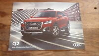 AUSTRALIAN CAR SALES ADVERTISNG BROCHURE, AUDI Q2 2017 MODEL