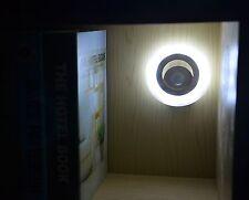 Motion Sensor LED Night Light Battery Operated Stairs Hallway Closet Wall Lamp