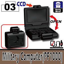 Military Computer (W149) Tactical Laptop compatible with toy brick minifigures