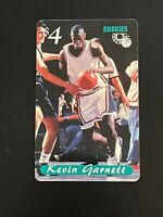 1995 Classic Rookie Kevin Garnett  Phone Card Minnesota Timberwolves Pre Rookie