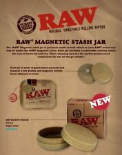 Genuine RAW magnetic stash/safe box,hide jewellery,meds/pills/coins/herbs/spices