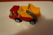 LESNEY MATCHBOX 1978 MB37C RED SKIP TRUCK tan INTERIOR CHRCOAL BASE EXC BOXD*
