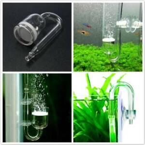 Fish Tank Aquarium CO2 Diffuser, Check Valve, U Shape Glass Tube Suction Cup Kit