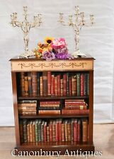 Regency Open Bookcase - Mahogany Sheraton Inlay