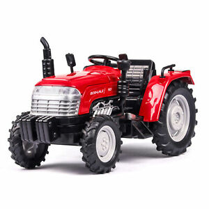 1:32 Farm Tractor Truck Farm Model Car Diecast Toy Vehicle Gift Sound Light Red