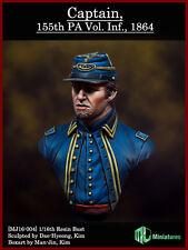 MJ Miniatures Union Captain PA Volunteer Infantry ACW 1/16th Bust Unpainted kit