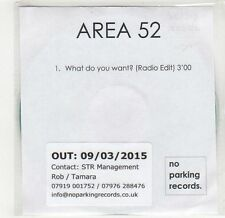 (GF781) Area 52, What Do You Want? - 2015 DJ CD