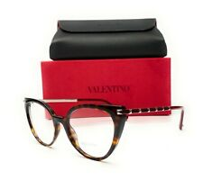 Valentino Va3040 5002 Havana Demo Lens Women's Cat Eye Eyeglasses 53mm
