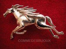 """Broche """"Cheval Fougueux"""" N° 7 argentée Sabot Pégase Equus - Bijoux pur Bestiaire"""