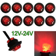 """10PCS RED Mini 12V 24V 3/4"""" Round LED Side Light Marker Trailer Truck Base RV"""