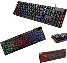 TASTIERA GAMING LED RETROILLUMINATA ILLUMINATA KEYBOARD PC COMPUTER DESKTOP USB