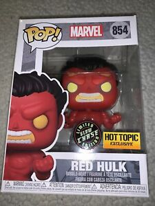 Funko POP! Marvel: RED HULK #854 !!CHASE!! Glow Hot Topic Exclusive New