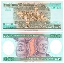 Brazil 200 Cruzeiros ND (1984) P-199b Banknotes UNC