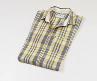 Levi's Men's Yellow checked Short Sleeved Casual Shirt Size Medium
