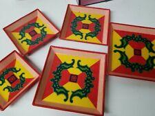 Korean Lacquerware Serving Trays / Bowls Stacking Set of 6