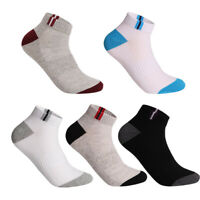 1/5 Pairs Men Ankle Socks Summer Low Cut Crew Sports Casual Cotton Socks Breath