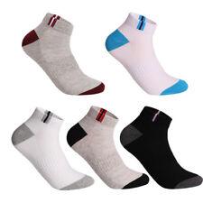1/3/5 Pares de Calcetines de tobillo para Hombre de Verano de Corte bajo Calcetines Crew Sports Casual de Algodón aliento