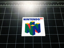 Nintendo 64 N64 video game logo decal sticker retro 90s Mario